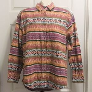 Vintage 90s southwestern boho button up L